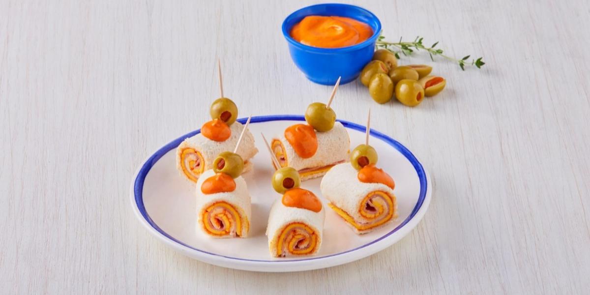Rollitos de pimiento con queso