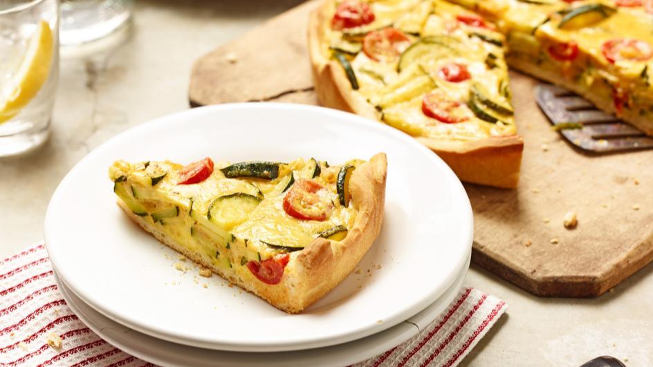 Zucchini-Rosmarin-Quiche