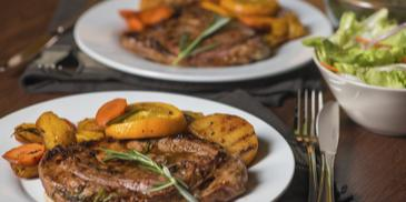 Grilled Lamb with Vegetable