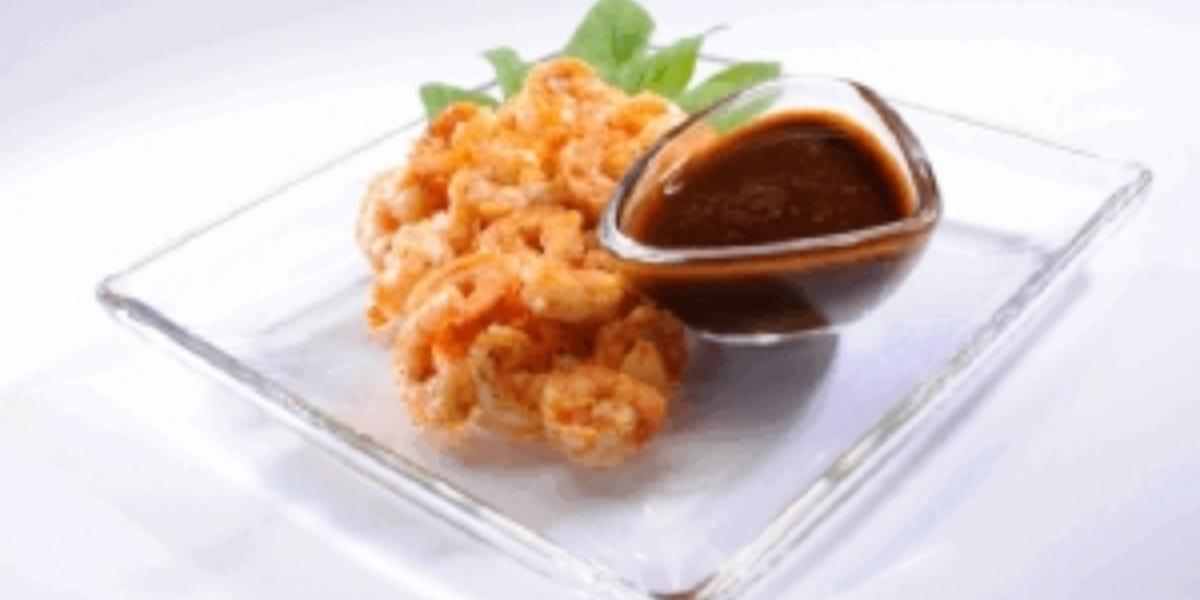 Camarones en salsa de café