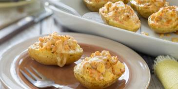 Gefüllte Lachskartoffeln