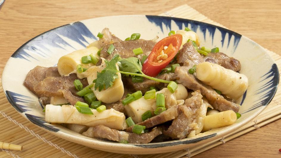 Thịt Nướng Xào Măng Trúc