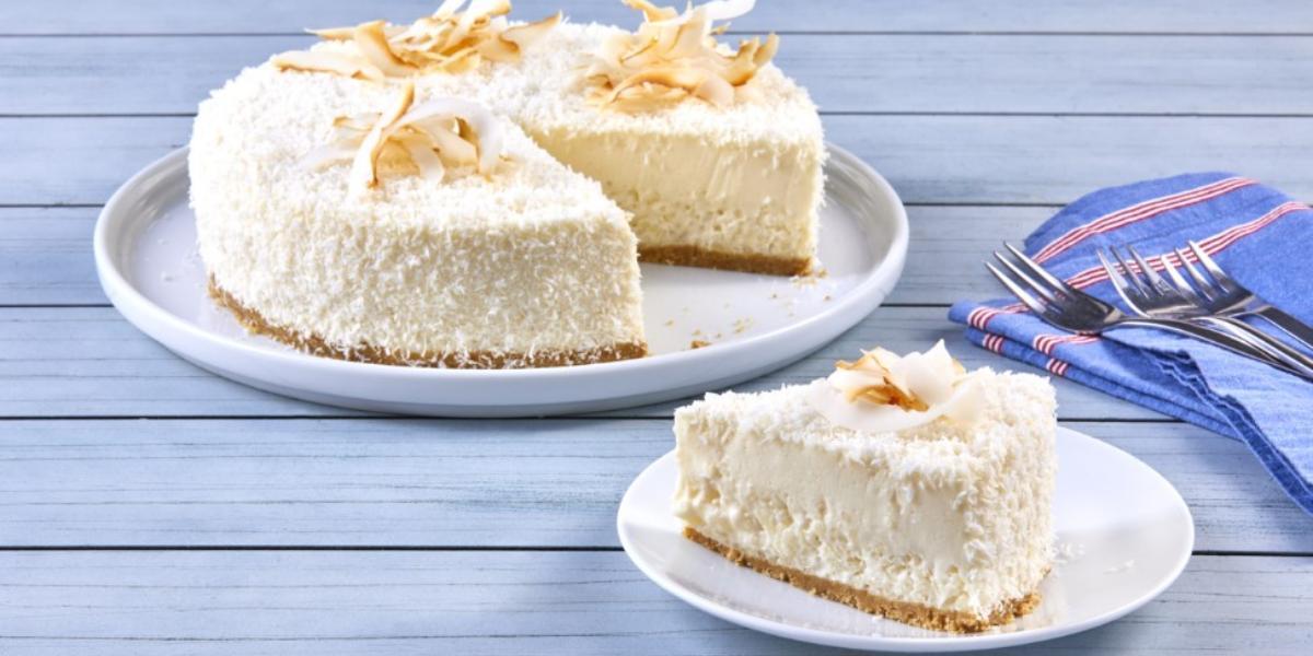 Cheesecake de arroz con leche y coco