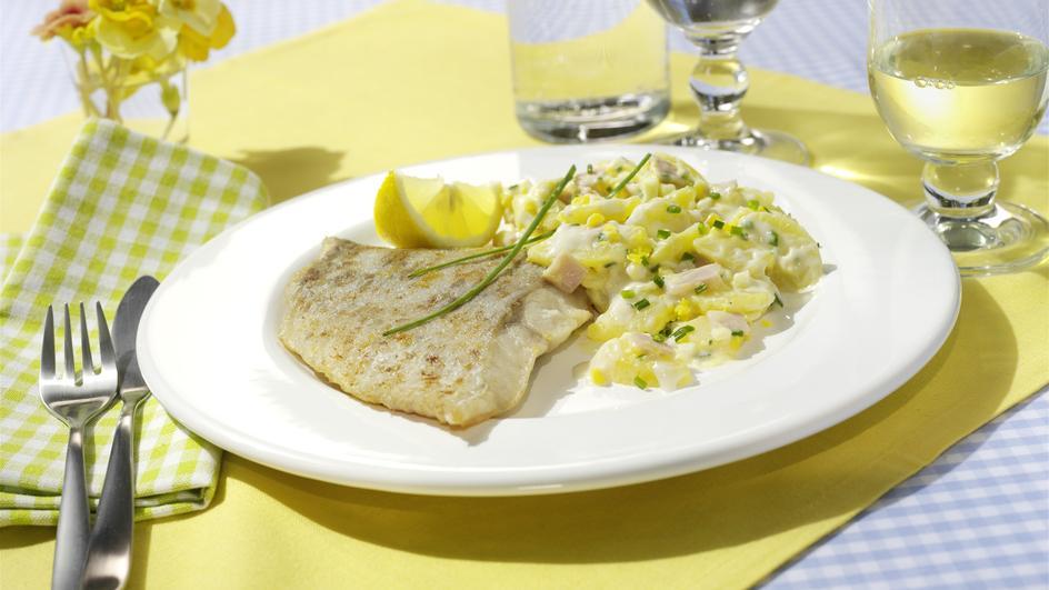 Gebratener Seelachs mit Kartoffelsalat