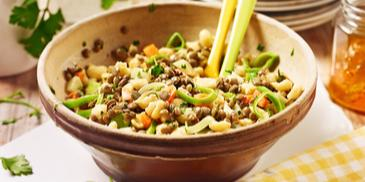 Knöpfle-Linsen-Salat