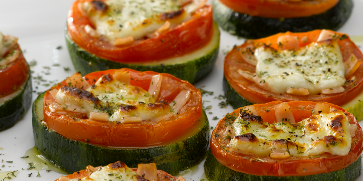 Pizzetas de Zucchini Jamón y Queso