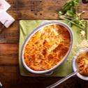 Σπαγγέτι με κόκκινη σάλτσα σουφλέ