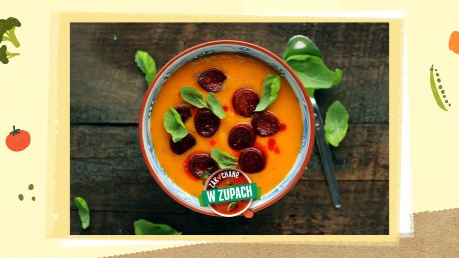Zupa paprykowa z chorizo