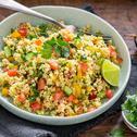 Ricetta Cous cous di verdure con pomodori, peperoni e cetrioli