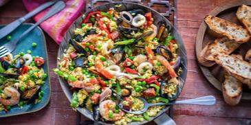 Meeresfrüchte Paella