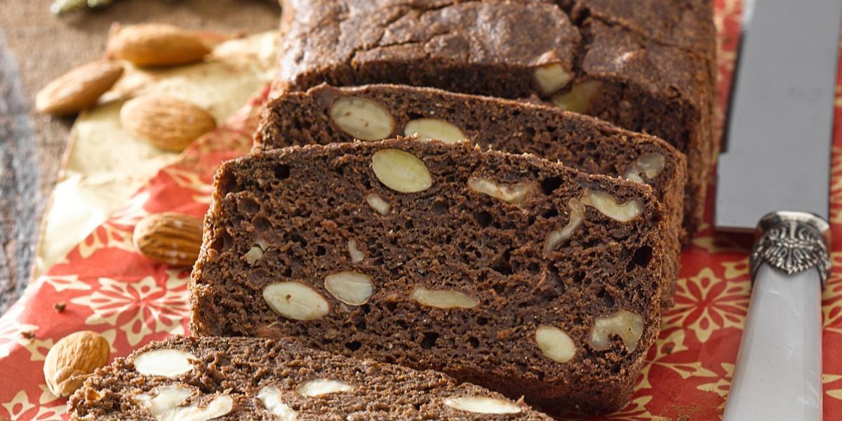 Pan Navideño Integral de Chocolate sin Lactosa