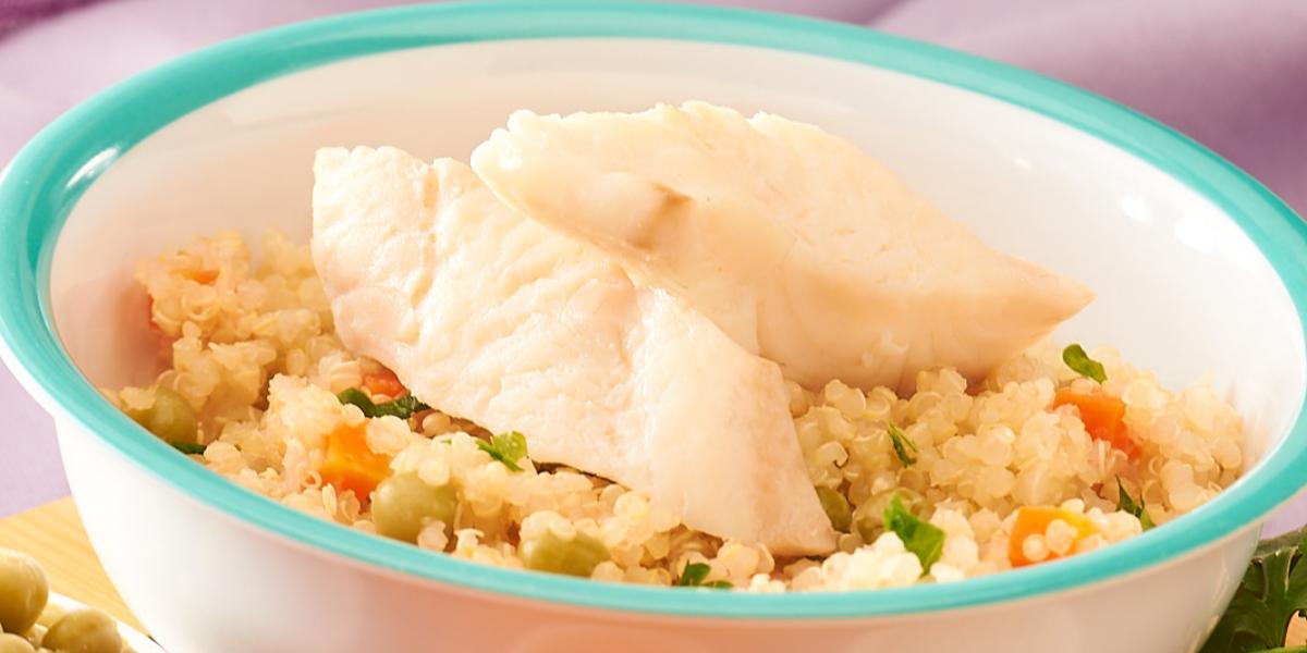 Guiso de Quinoa con Reineta Pochada
