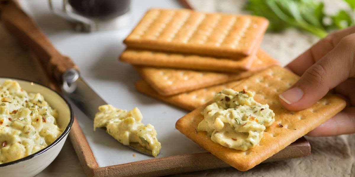 Dip picante de queso y palmito