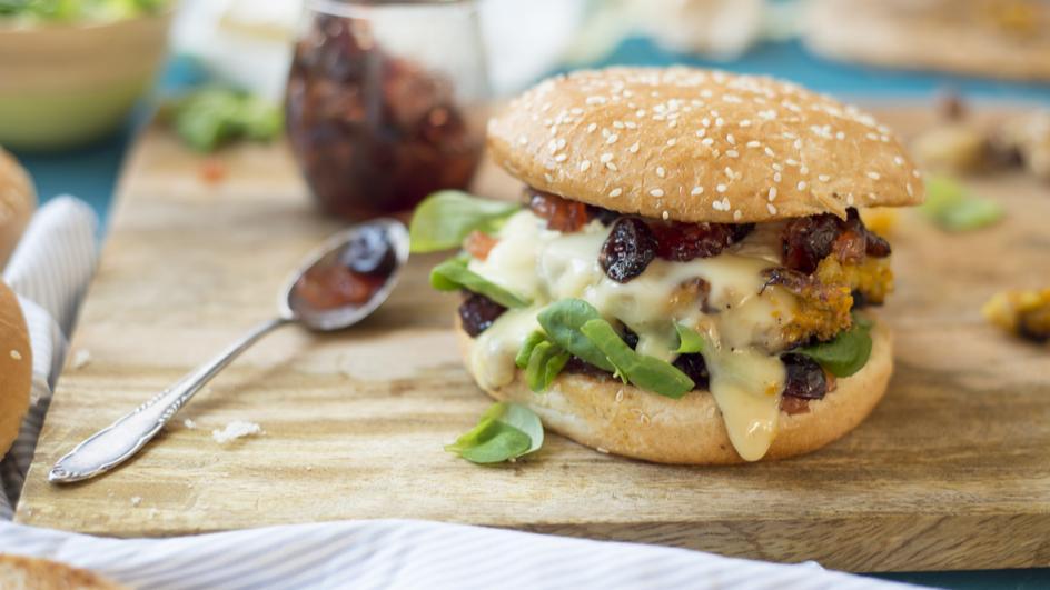 Winterburger mit Kürbis-Patty