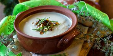Σούπα βελουτέ με μανιτάρια και κάστανα