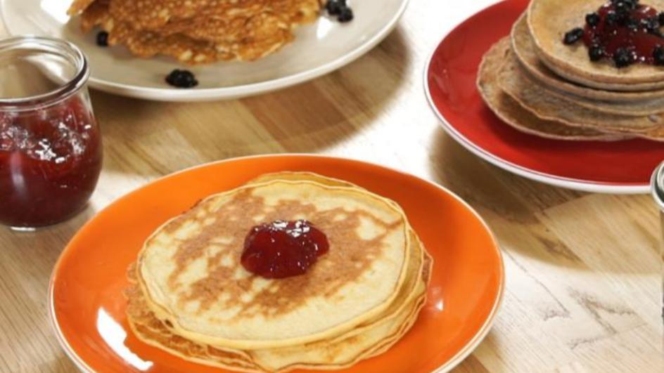 Dreierlei glutenfreie Pfannkuchen