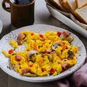 Ham and Mushroom Scrambled Egg