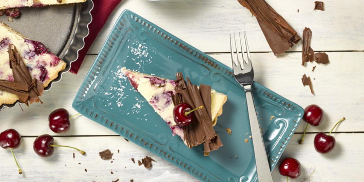 Tarta de Coco, Cereza y Chocolate