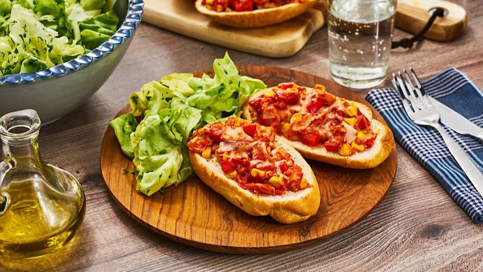 Pizza-Brötchen Snack