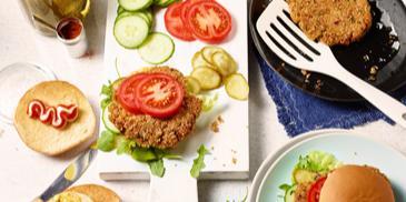 Vegetarischer Quinoa-Burger