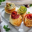 Herzhafte Rosen-Muffins