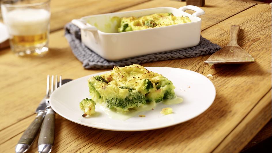 Broccoli unter der Kartoffelhaube