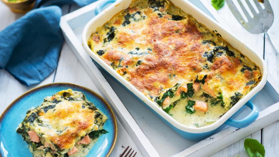 MAGGI Natürlich & Bewusst Lachs-Spinat Lasagne