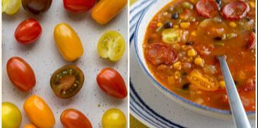 Pikantna zupa meksykańska z chorizo i czerwoną papryką