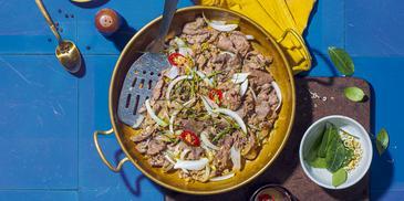 Thịt Đà Điểu Xào Ớt Sả Lá Chanh
