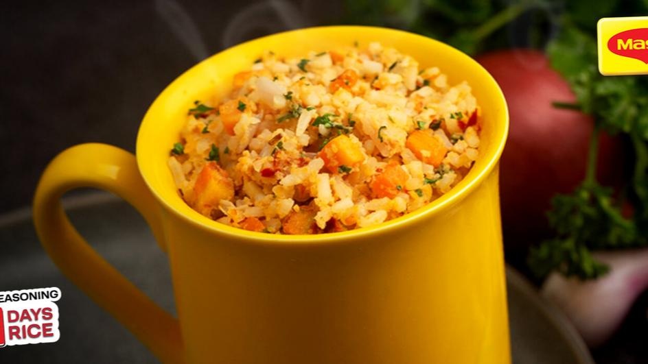 Spicy Egg and Cheese Mug fried rice