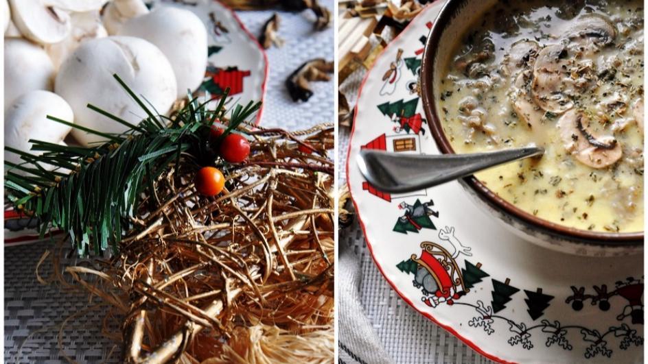 Zupa pieczarkowa na wigilię