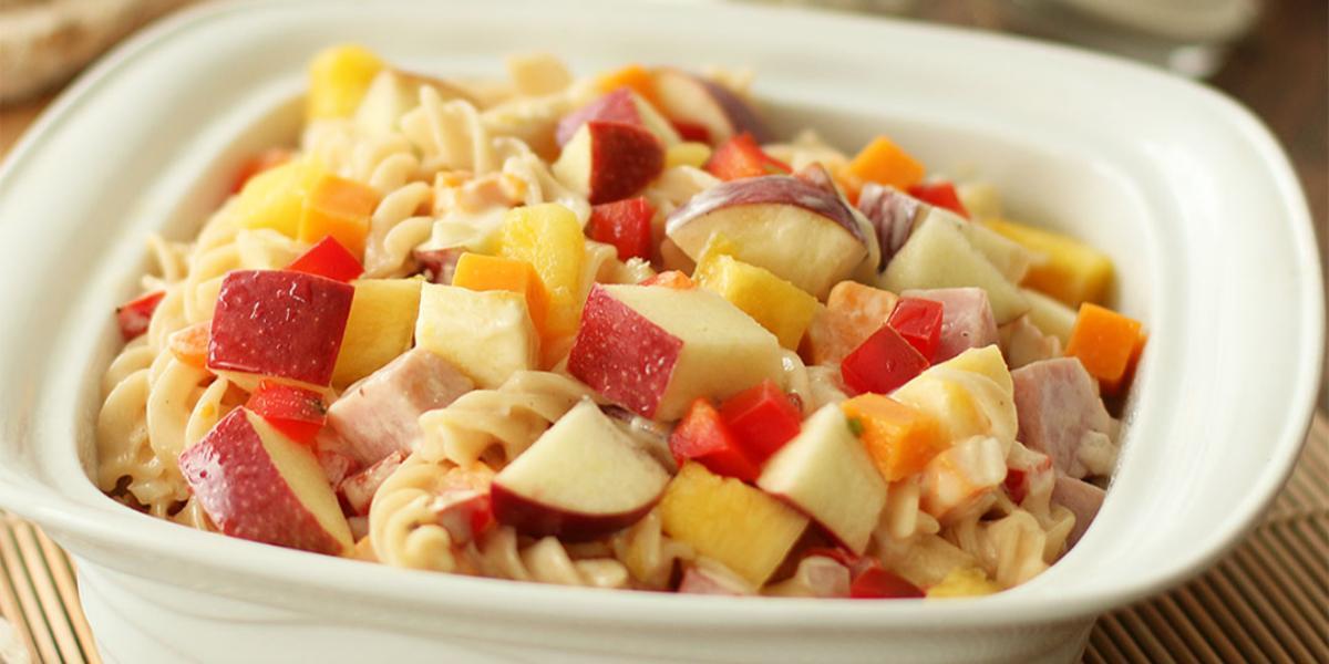 Ensalda de pasta y jamón