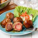 Savorventure Hotdog Stuffed Meatballs