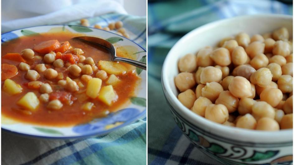 Prosta zupa z ciecierzycy z puszki