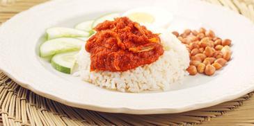 Nasi Lemak with MAGGI Sambal Tumis