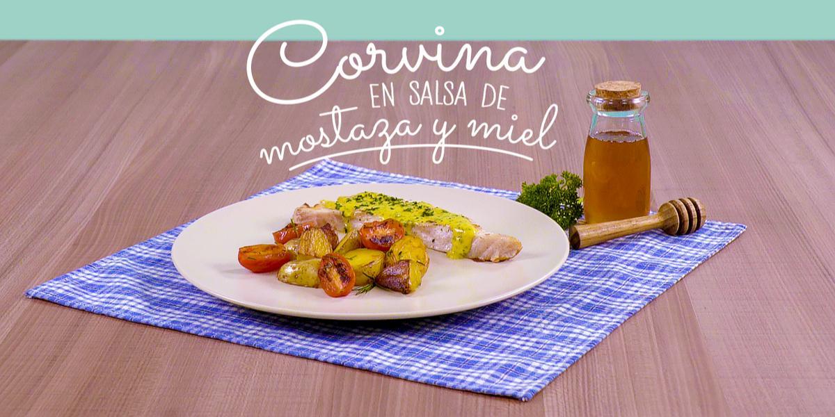 Corvina en salsa de mostaza