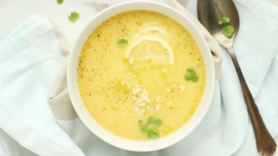 Zupa cytrynowa z ryżem
