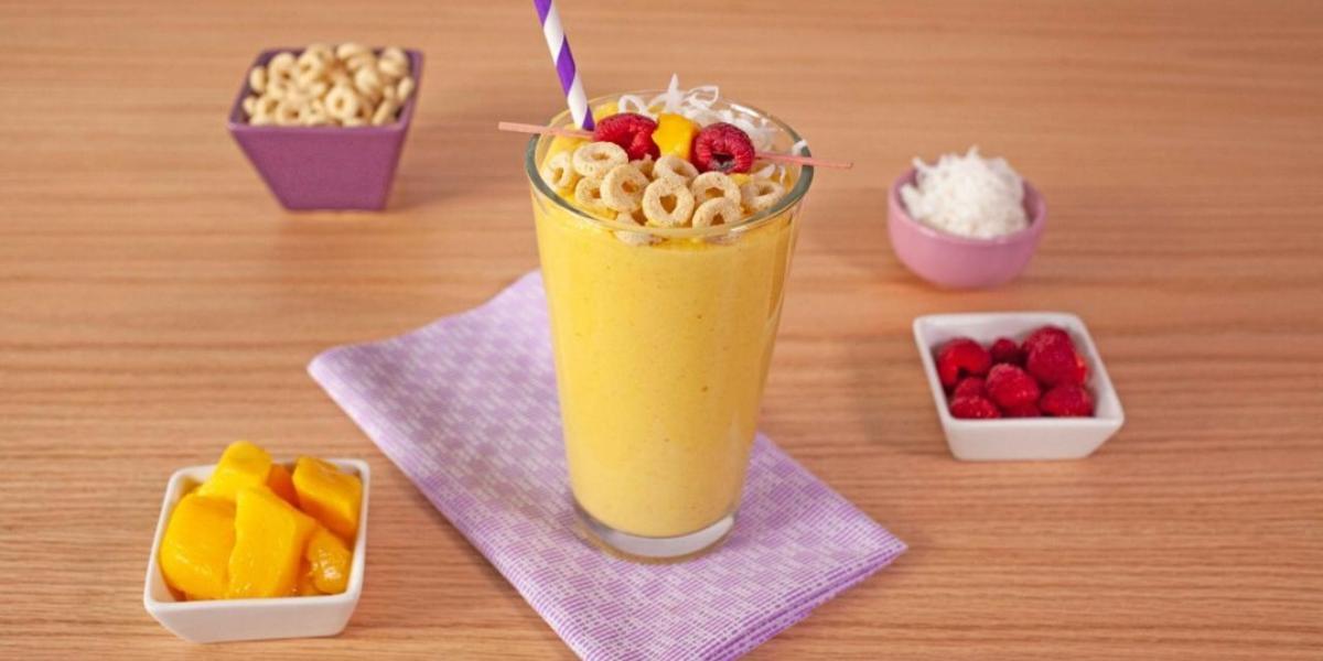 Smoothie de mango con miel
