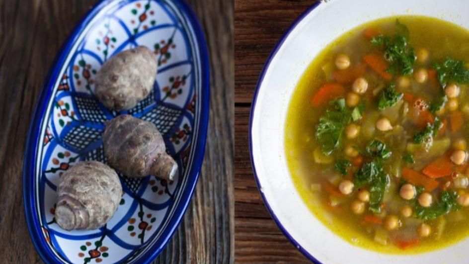 Zupa z soczewicy i topinamburu