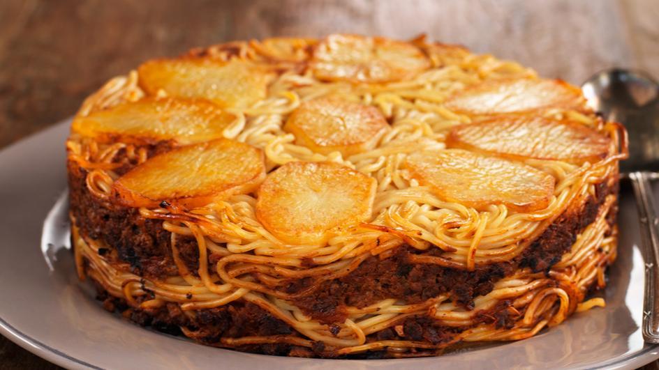 Spaghetti Bolognese Upside Down