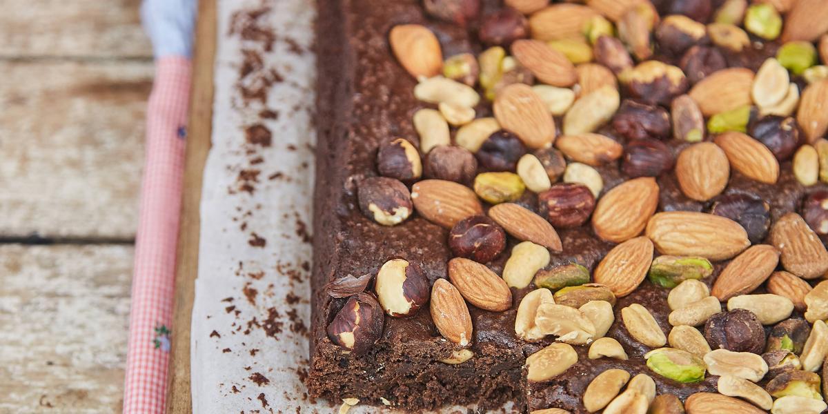 Brownies con frutas secas