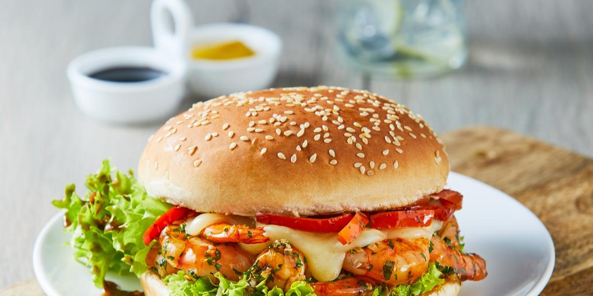 Hamburguesa de camarón