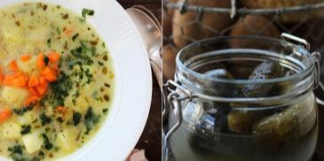 Zupa ogórkowa z ziemniakami bez mięsa