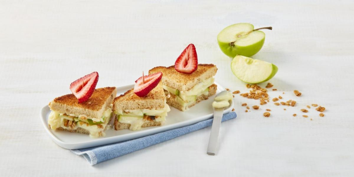 Mini sándwich de manzana