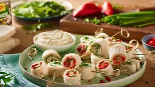 Warzywne roladki na zimno z sosem tatarskim