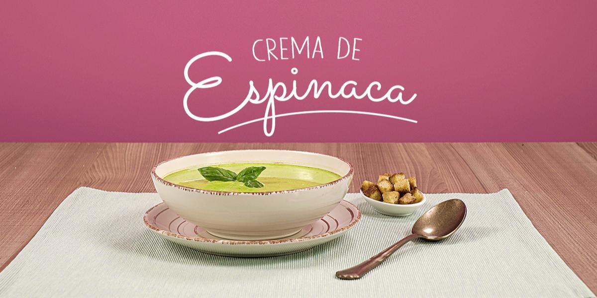 Crema de Espinaca
