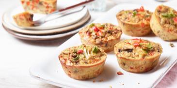 Bunte Gemüse Muffins