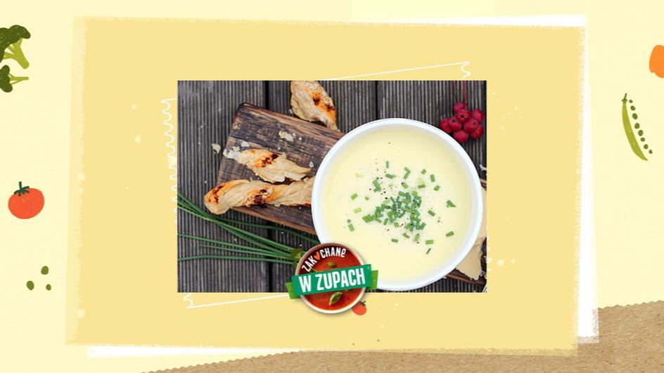 Zupa serowa z diablotkami z ciasta francuskiego