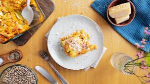 Zucchini Lasagne mit Quinoa