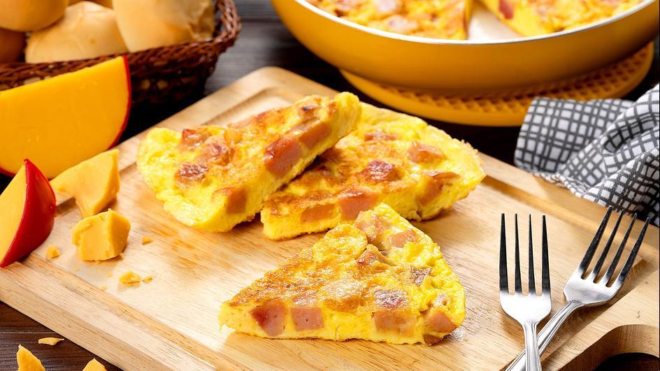 Ham and Keso de Bola Torta